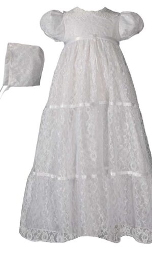Girls 29? Layered All Over Lace Christening Special Occasion Gown