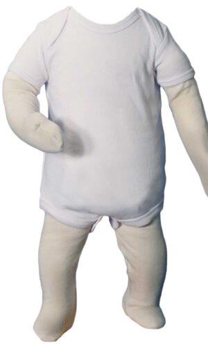 Unisex Cotton Knit Christening Onesie Coverall