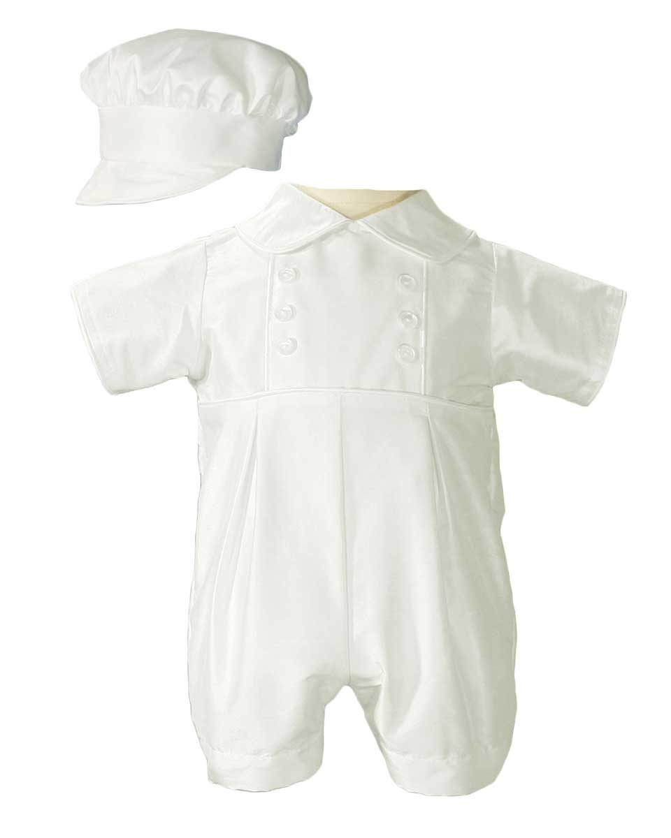 Faithclover Baby Boys Christening Outfit Long Suits One Piece Formal Suits Set with Hat