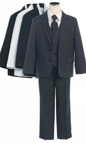 COLE Boys Suit with Shirt and Vest (5-Piece)