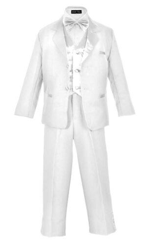 Boy's Formal 5 Piece Tuxedo Suit Dresswear Set