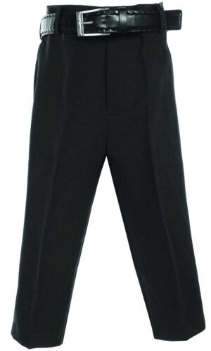 Avery Hill Boys Flat Front Dress Pants with Belt