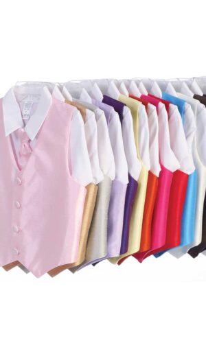Vest and Clip On Necktie Set