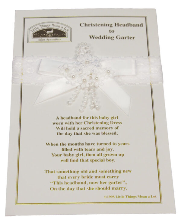 Christening Headband to Wedding Garter