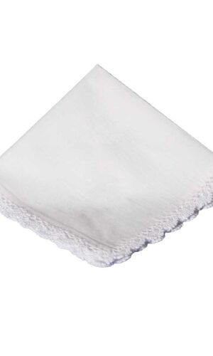 Cotton Christening Hankie Handkerchief Heirloom