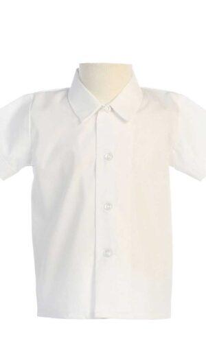 Boys Short Sleeved Simple Dress Shirt