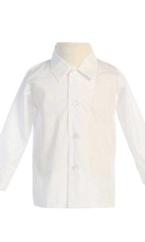 Boys LongSleeved Simple Dress Shirt