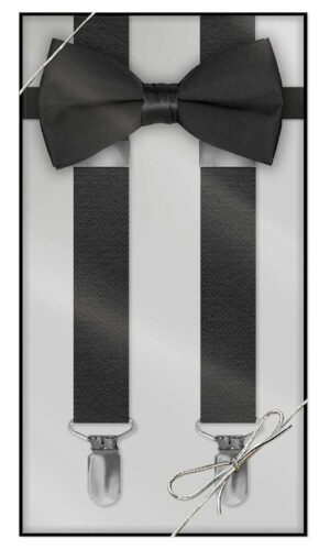 Boys and Mens Suspender & Bow Tie Gift Box Set