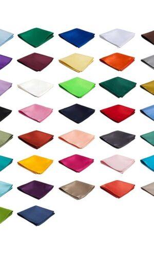 Satin Solid Color Pocket Square 10″ x 10″